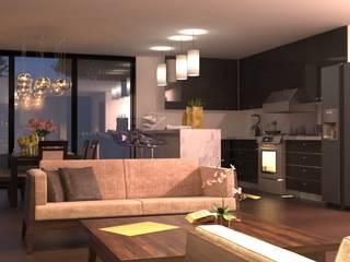 V Arquitectura Modern Living Room