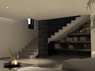 V Arquitectura Modern Corridor, Hallway and Staircase