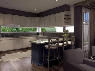 V Arquitectura Modern Kitchen Wood effect