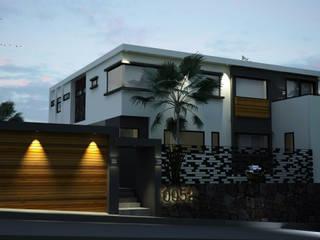 V Arquitectura Wooden houses White