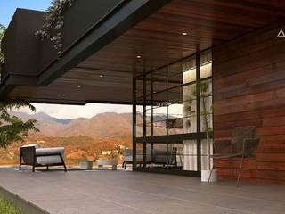 V Arquitectura Modern Terrace Wood effect