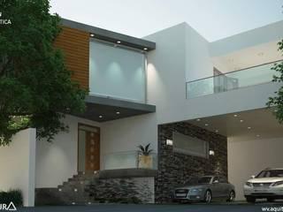 V Arquitectura Terrace house White