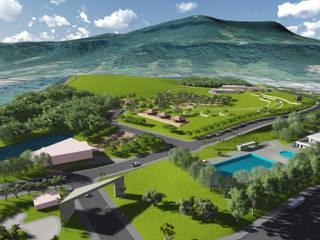 Parque Esportivo Morro Ferrabraz: Jardins  por Bendita Arquitetura,Campestre