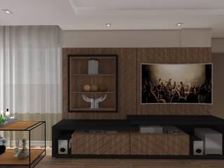 Salão de festas cobertura apartamento duplex:   por studio d'design by' laura gransotto,Moderno