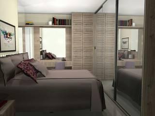 Dormitório Feminino:   por Bendita Arquitetura,Moderno