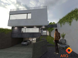 Detached home by Arquimia Arquitectos, Minimalist