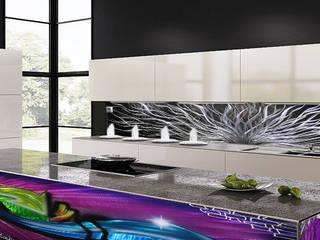 Außergewöhnliches Design für Ihre Küche: Nicht nur eine Küchenrückwand, sondern ein Kunstwerk :   von Designwerkstatt Baumgarten UG