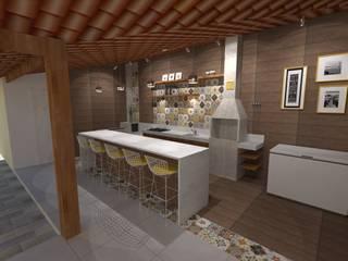 Espaço gourmet por Karina Barreto arquitetura Moderno