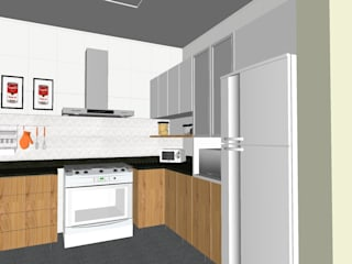 Reforma cozinha por Karina Barreto arquitetura Clássico
