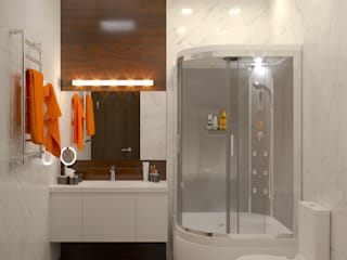 Интерьер ванной комнаты: Ванные комнаты в . Автор – ИнтеРИВ