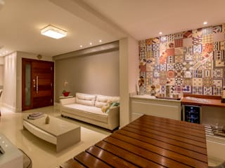 DM ARQUITETURA E ENGENHARIA Living room Wood Grey