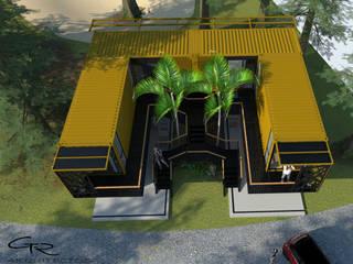 Espaços comerciais modernos por GT-R Arquitectos Moderno