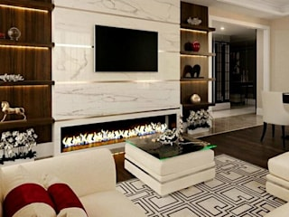 Mr. Saboo's Residential Space Design: asian  by TVK Modular Furniture,Asian