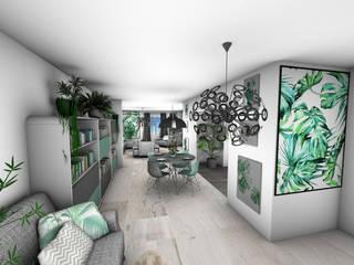 Architecture d'intérieur - Appartement Green: Couloir et hall d'entrée de style  par Crhome Design