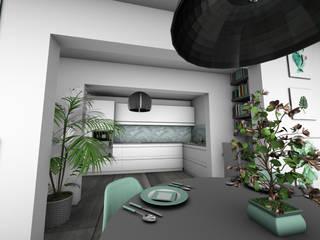 Architecture d'intérieur - Appartement Green: Cuisine de style  par Crhome Design