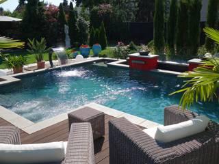 Natur & Heim GmbH Giardino con piscina Pietra Grigio
