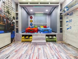 Гараж на 4 места: Детские комнаты в . Автор – Школа Ремонта, Лофт
