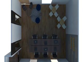 Oficina Cuasar Capital: Estudios y oficinas de estilo  por Interiores 25