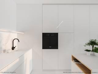 Apartament 62: styl , w kategorii Aneks kuchenny zaprojektowany przez Hoski