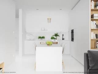 Apartament 62: styl , w kategorii Jadalnia zaprojektowany przez Hoski