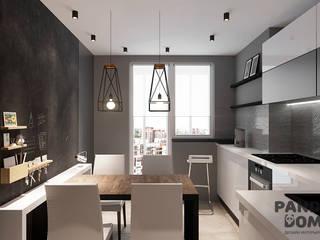 Современный дом в серо-черной гамме. Кухня в стиле модерн от дизайн-студия PandaDom Модерн