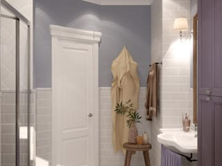 Colonial style bathrooms by Студия интерьерного дизайна happy.design Colonial