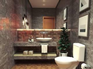 Lavabo Industrial Banheiros industriais por Caroline Berto Arquitetura Industrial