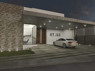 Fachadas lateral principal: Casas unifamiliares de estilo  por Summa Arquitectura