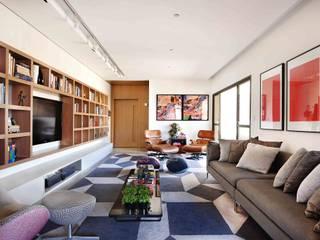 Projeto Carlos Steinen Kika Tiengo Arquitetura Salas de estar modernas