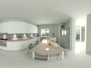arquitecto9.com Built-in kitchens Concrete White