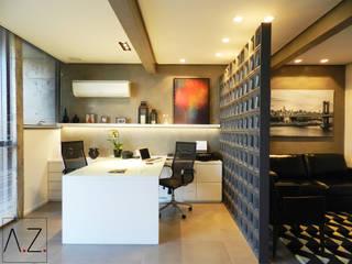 Escritório Zona Sul Escritórios modernos por Estúdio AZ Arquitetura Moderno