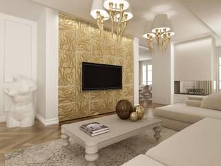 Настенные панели из кожаной плитки для гостинной комнаты:  в . Автор – Tileelit