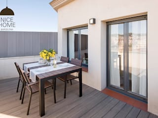 Proyecto Aragón Balcones y terrazas de estilo mediterráneo de Nice home barcelona Mediterráneo