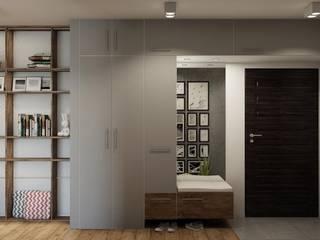 mieszkanie prywatne Minimalistyczny korytarz, przedpokój i schody od UrbanForm Minimalistyczny