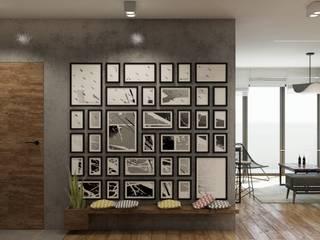 mieszkanie prywatne Nowoczesny korytarz, przedpokój i schody od UrbanForm Nowoczesny