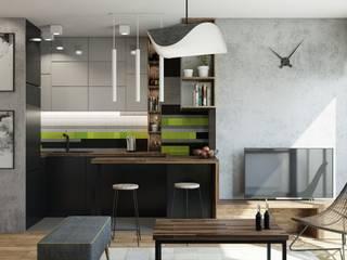 mieszkanie prywatne Minimalistyczna kuchnia od UrbanForm Minimalistyczny