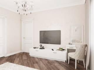 """Квартира в ЖК """"Центральный"""" Гостиная в классическом стиле от Homefort Классический"""