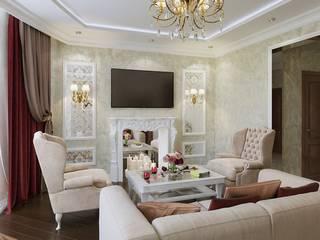 Роскошь и достоинство Гостиная в классическом стиле от Homefort Классический