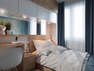 bardzo małe mieszkanie - 29 m2! Nowoczesna sypialnia od UrbanForm Nowoczesny