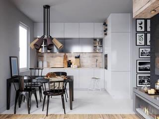 mieszkanie w nowej zabudowie Minimalistyczna kuchnia od UrbanForm Minimalistyczny