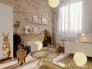 mieszkanie w nowej zabudowie Skandynawski pokój dziecięcy od UrbanForm Skandynawski