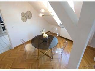 Dining room by Münchner home staging Agentur GESCHKA, Minimalist