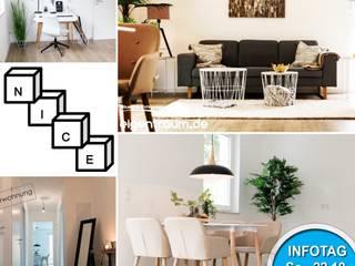 Musterwohnung eingerichtet, Räume Nachher für Fotos und Besichtigungen:   von NICE Homestaging