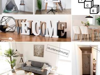 Nachher - ausgestattete Musterwohnung zur Präsentation :   von NICE Homestaging