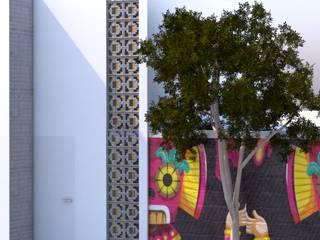 casa Minimalista de bajo costo :  de estilo  por Calapiz Arq