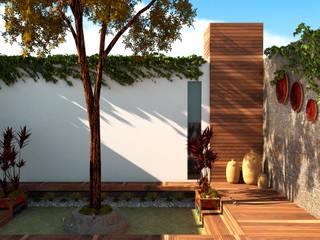 Diseño de jardin 20 m2:  de estilo  por Calapiz Arq