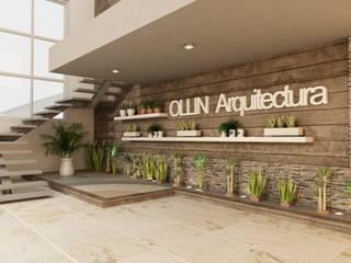 AREA RECEPCIÓN:  de estilo  por OLLIN ARQUITECTURA