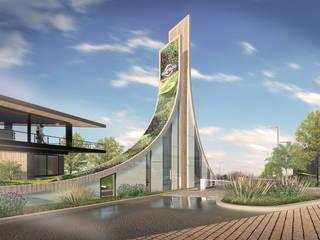 Caseta de acceso : Centros Comerciales de estilo  por TDT Arquitectos