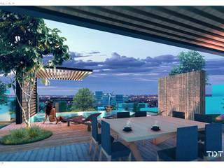 Casa Club : Restaurantes de estilo  por TDT Arquitectos