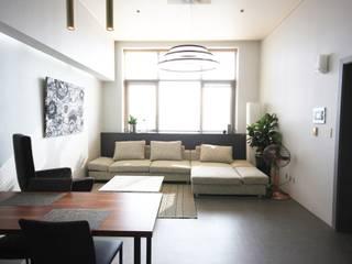 일산 22평 호텔 같은 싱글남 홈스타일링 모던스타일 거실 by homelatte 모던